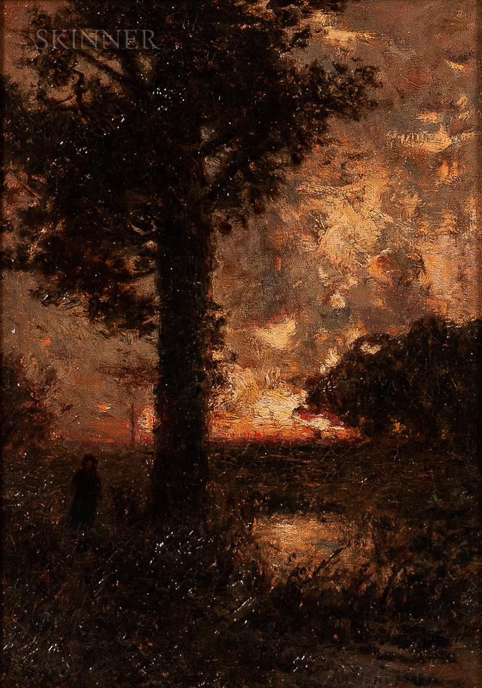 Alexander Helwig Wyant (American, 1836-1892)      Barbizon Sunset