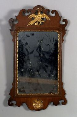Chippendale Mahogany and Parcel-gilt Mirror.