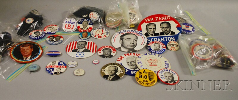 Collection of 1960s and 70s U.S. Political Pinback Buttons
