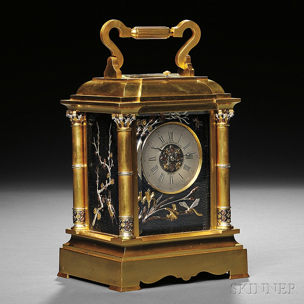 French Grande Sonnerie Gilt Carriage Clock