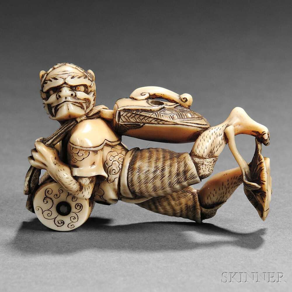 Ivory Netsuke of an Oni