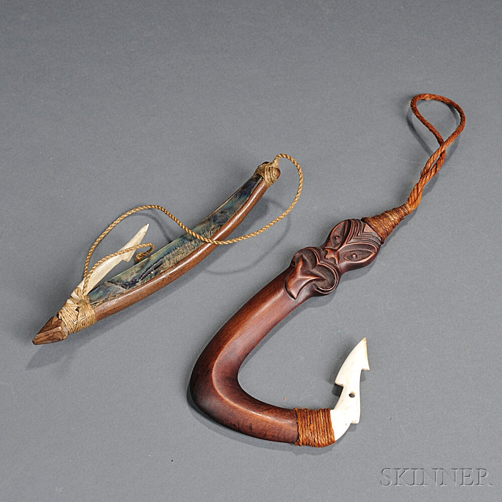 Two South Pacific Fishhooks