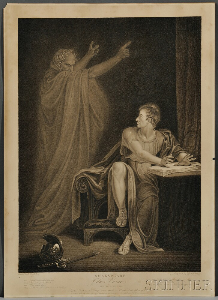 Shakespeare Illustrations from the Boydell Gallery, Six Prints.