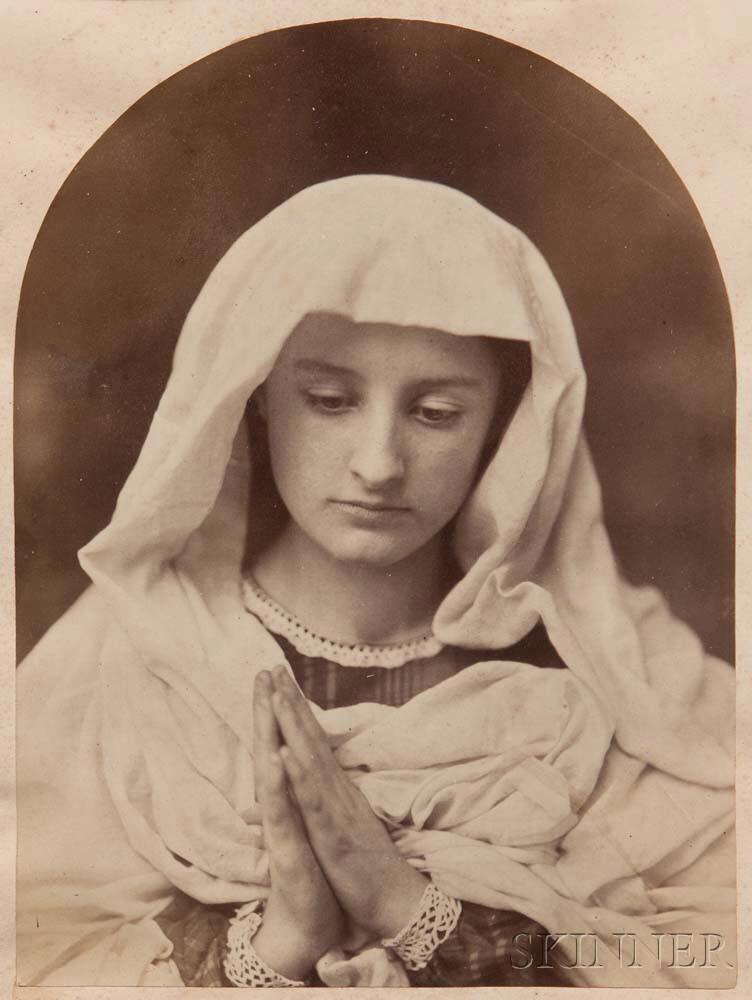 Oscar Gustave Rejlander (British, 1813-1875)      Young Woman in Prayer