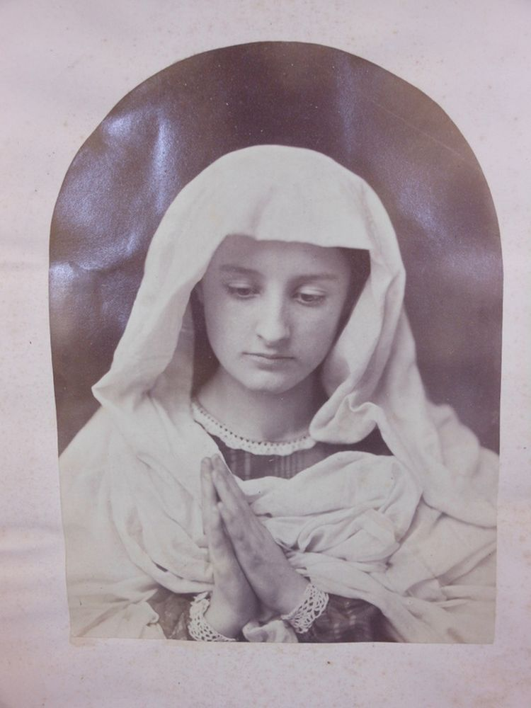 Oscar Gustave Rejlander (British, 1813-1875)      Young Woman in Prayer