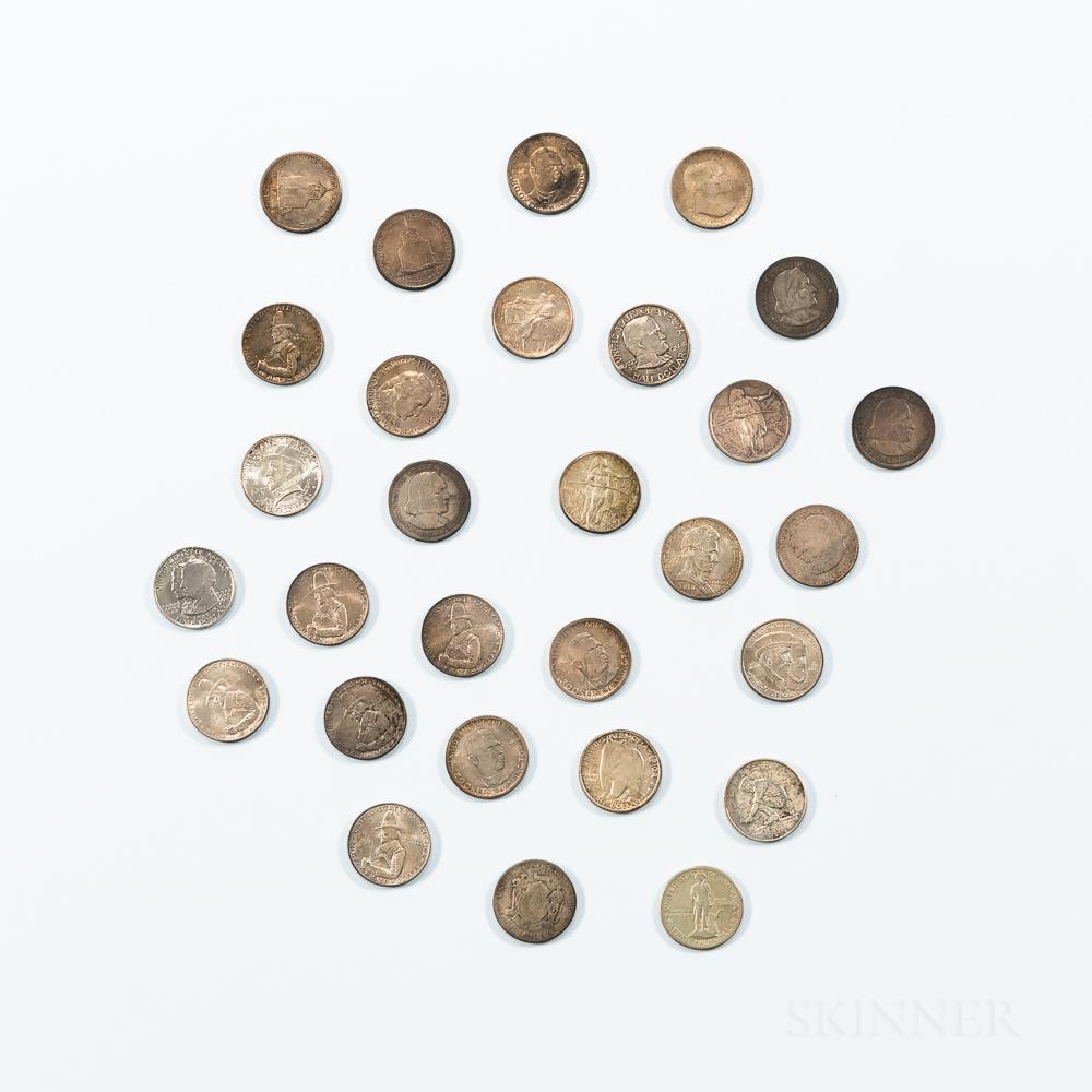 Twenty-nine Commemorative Half Dollars