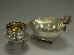 Barbour Silver Plated Squirrel Figural Nut Bowl and a Victorian Plated Footed Waste Bowl.