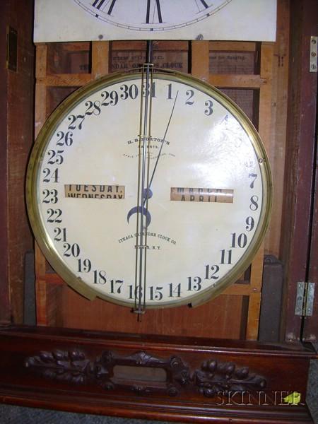 Ithaca Regulator No 1 Wall Calendar Clock Sale Number