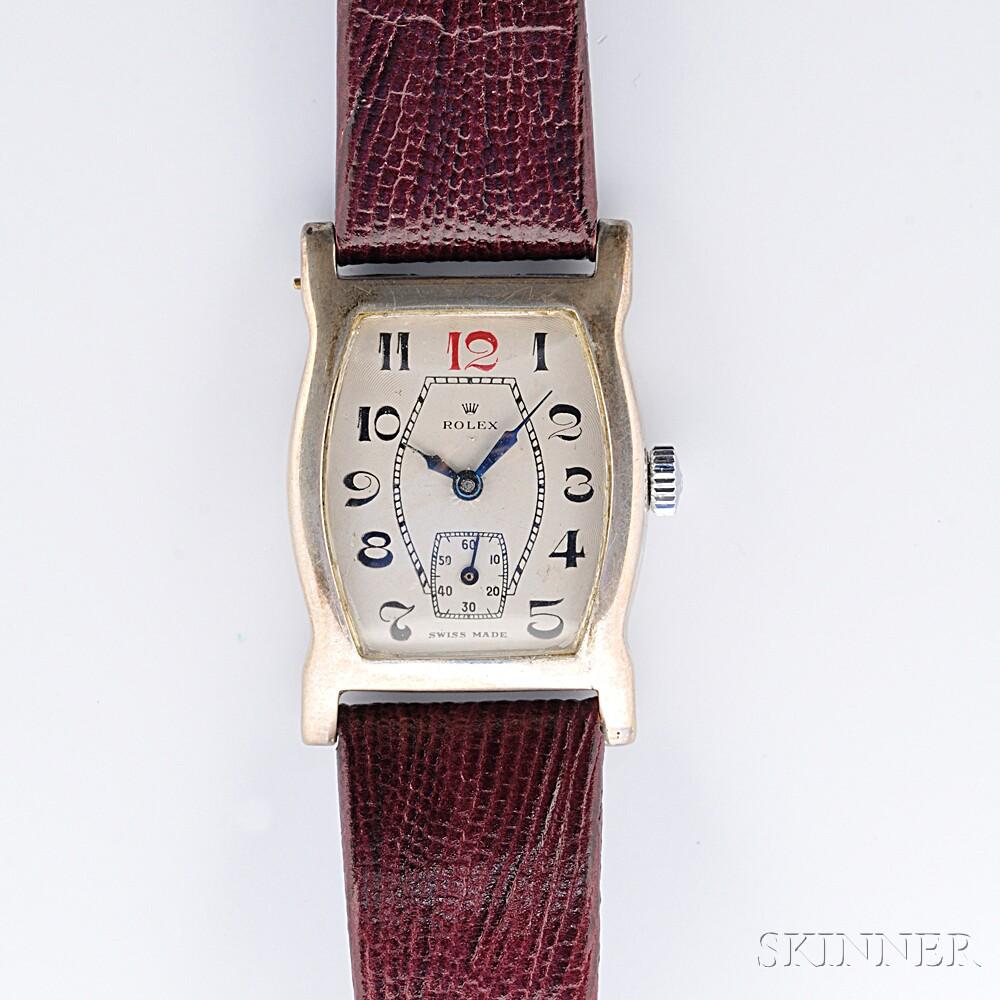 Sterling Silver Wristwatch, Rolex