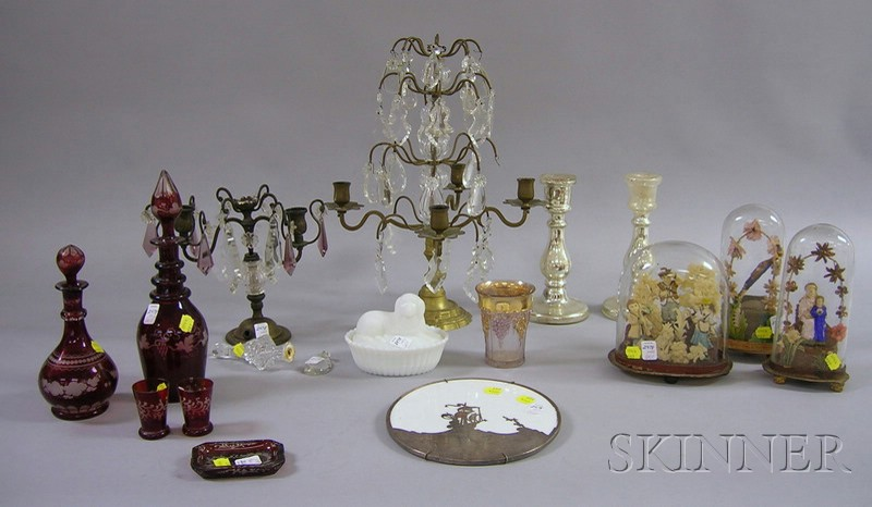 Fifteen Assorted Victorian and Late Victorian Glass and Decorative Items