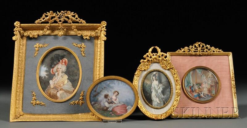 Four Portrait Miniatures