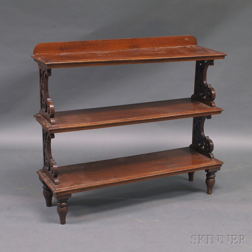 Regency-style Oak Three-tier Open BookshelfRegency-style Oak Three-tier...