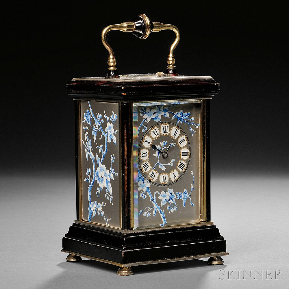 Brass and Ebonized Hour-repeating Carriage Clock