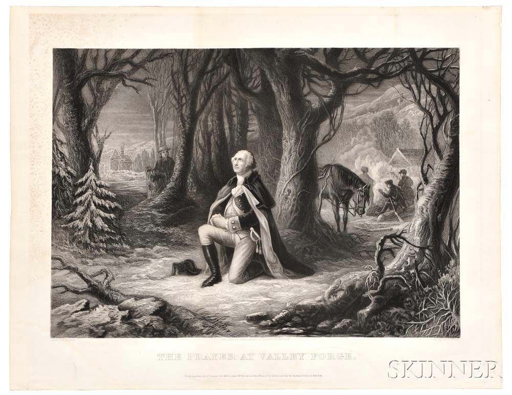 Washington, George (1732-1799) The Prayer at Valley Forge.
