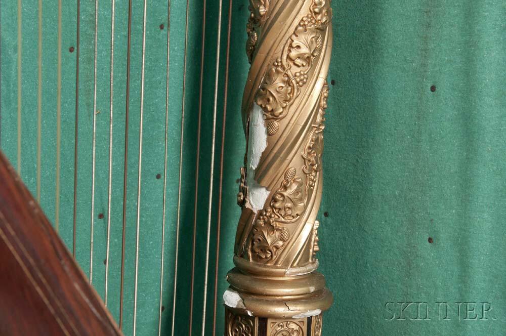French Double-action Concert Harp, Erard, Paris, 19th Century