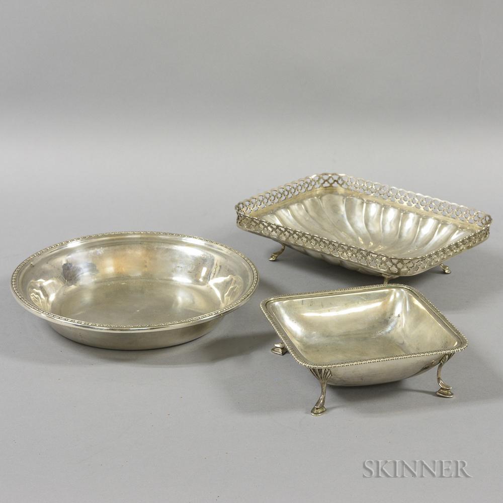 Three Pieces of Portuguese .833 Silver Tableware