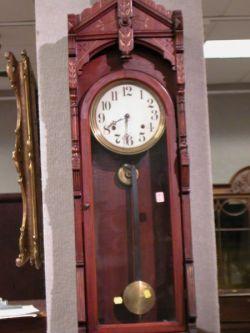 Eastlake-type Parcel-gilt Cherry Regulator Wall Timepiece.