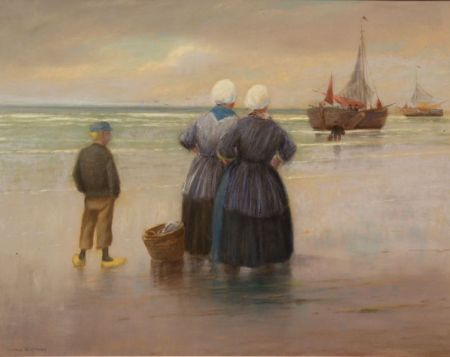 George W. Harvey (American, 1835-1920)    Coming Ashore