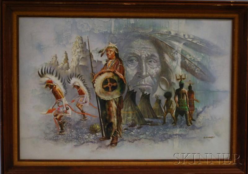 G. Bogard (American, 20th Century)      Indian Chief.