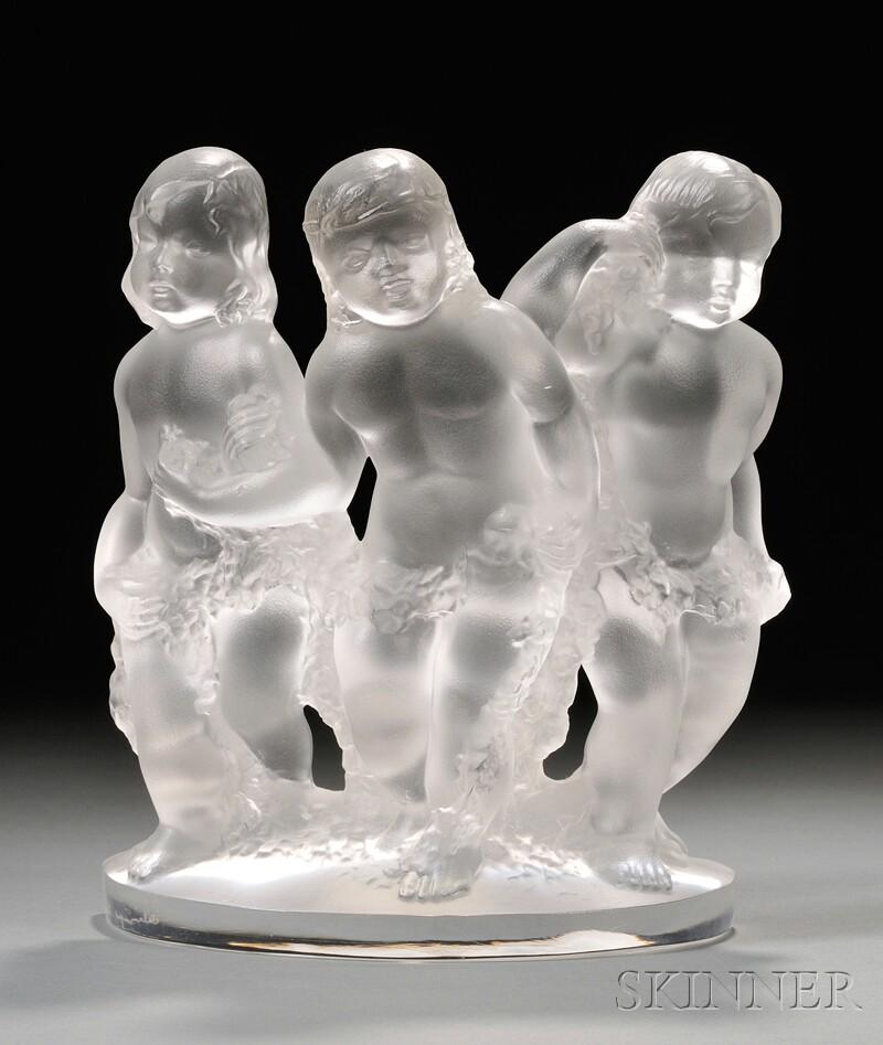 Lalique Cherub Figural Group