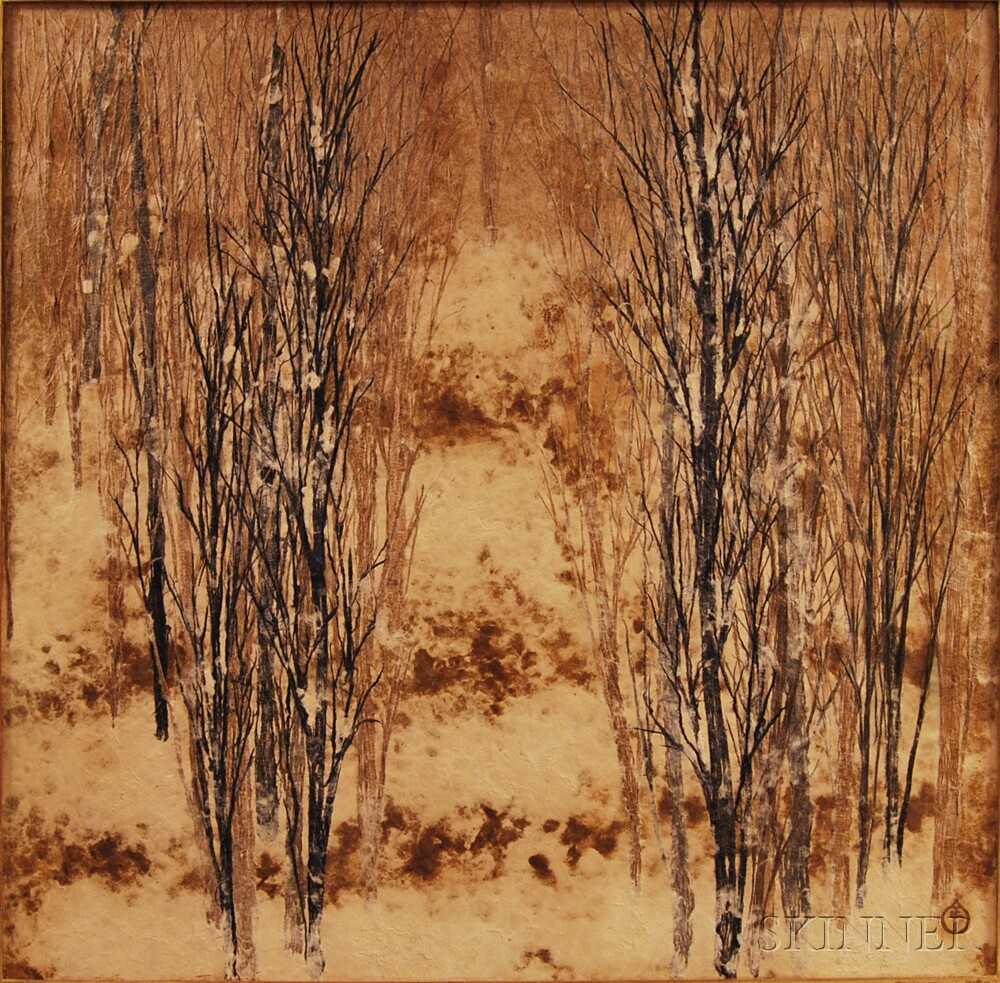 Kasugai Masayoshi (Japanese, b. 1921)      Trees in Winter.