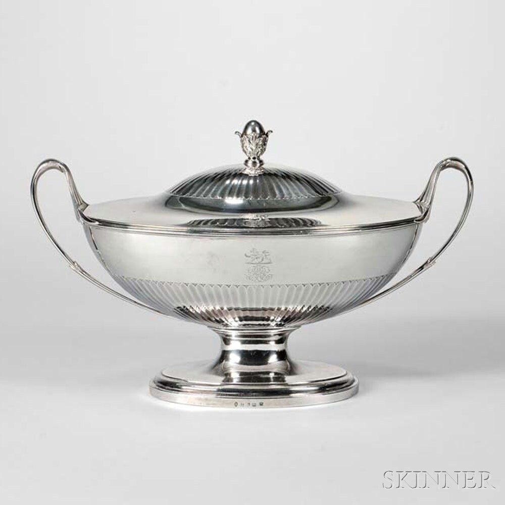 George III Sterling Silver Covered Soup Tureen