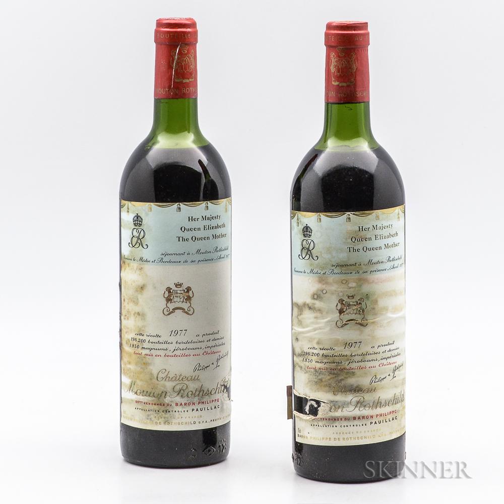 Chateau Mouton Rothschild 1977, 2 bottles