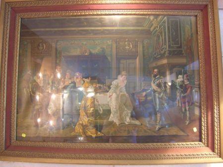 Framed Enhanced Print of French Court Scene