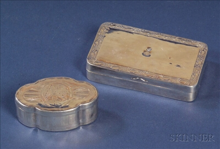 Two Silver Snuff Boxes