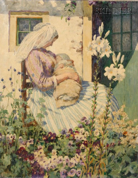 George Hitchcock (American, 1850-1913)      Woman in the Garden