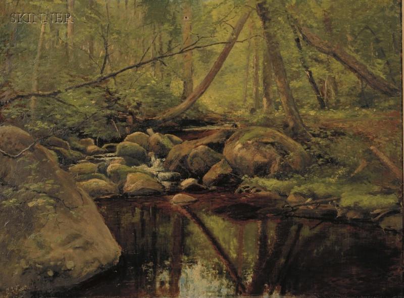 George Albert Frost (American, 1843-1907)      Woodland Landscape