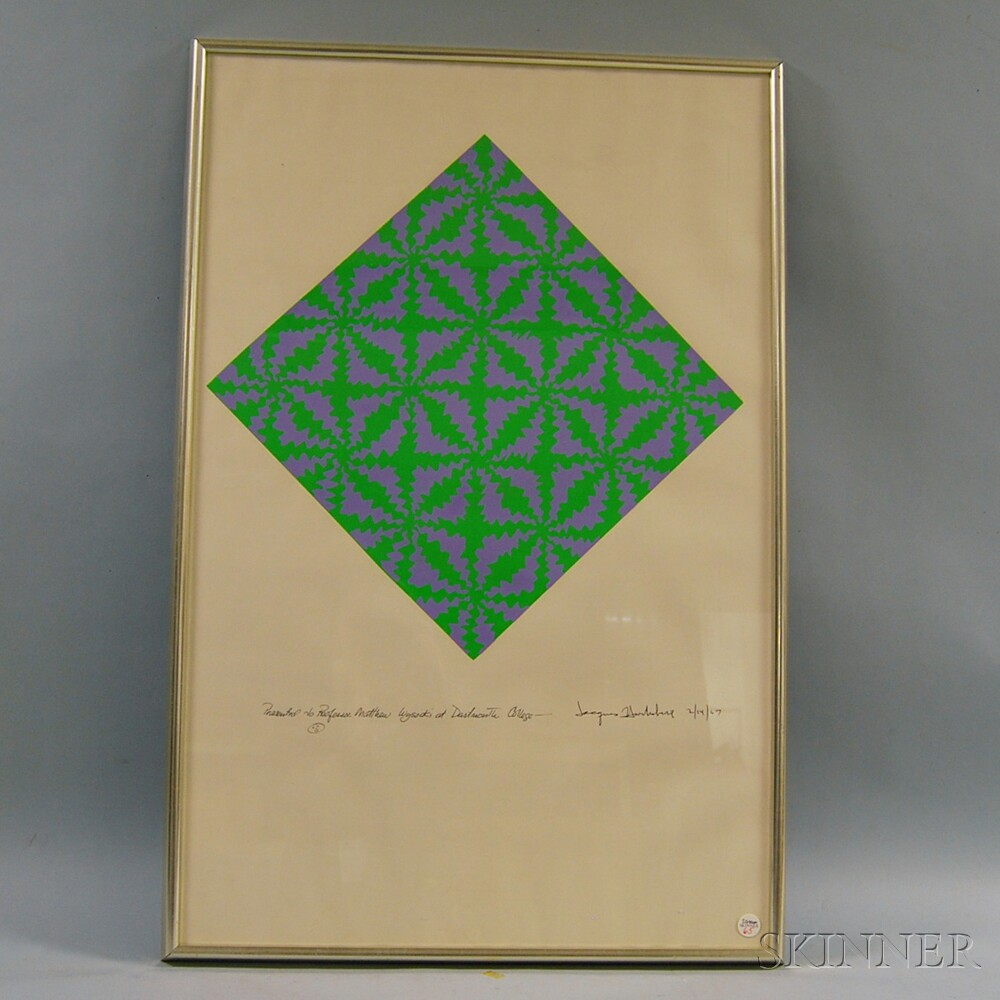 Jacques Hurtubise (Canadian, b. 1939)      Untitled Op Art Print