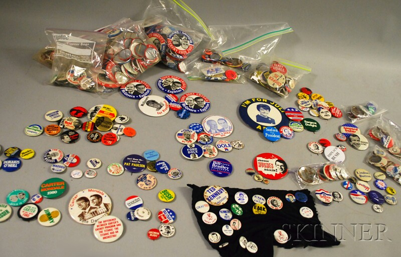 Collection of 1970s and 1980s U.S. Political Pinback Buttons