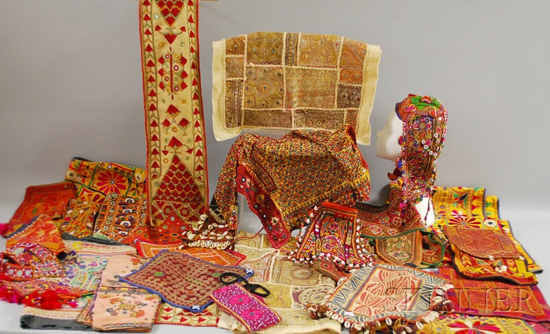 Group of Mostly South Asian Textiles