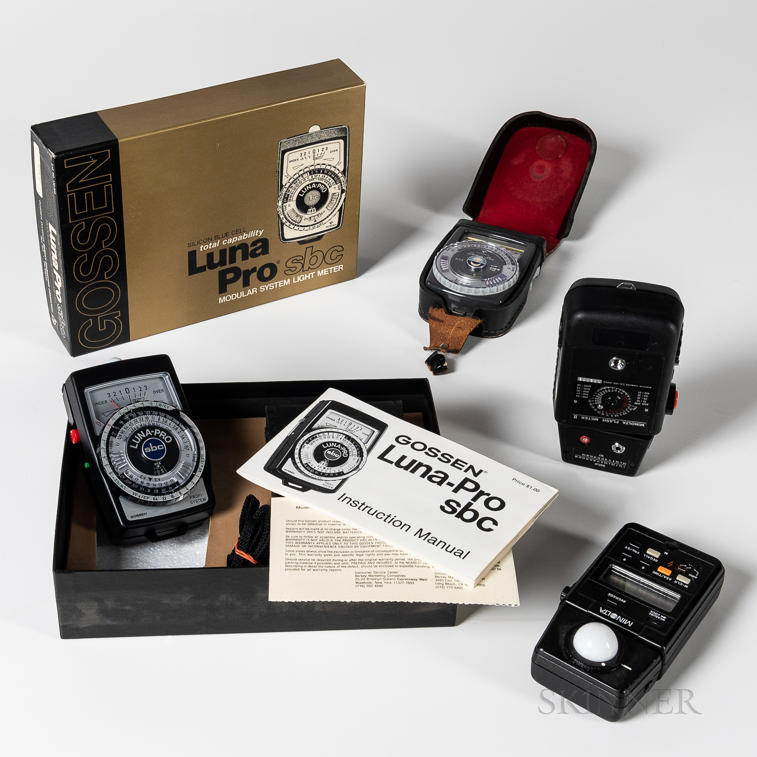 Four Photographic Light Meters