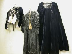 Two Victorian Lady's Black Beaded Two-Piece Outfits and a Set of Black Beading.