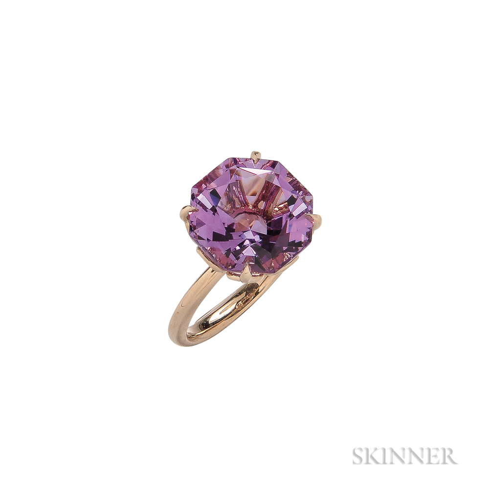 18kt Rose Gold and Amethyst