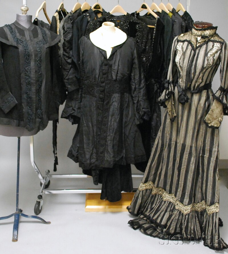 Group of Mostly Black 19th/Early 20th Century Mourning Clothing