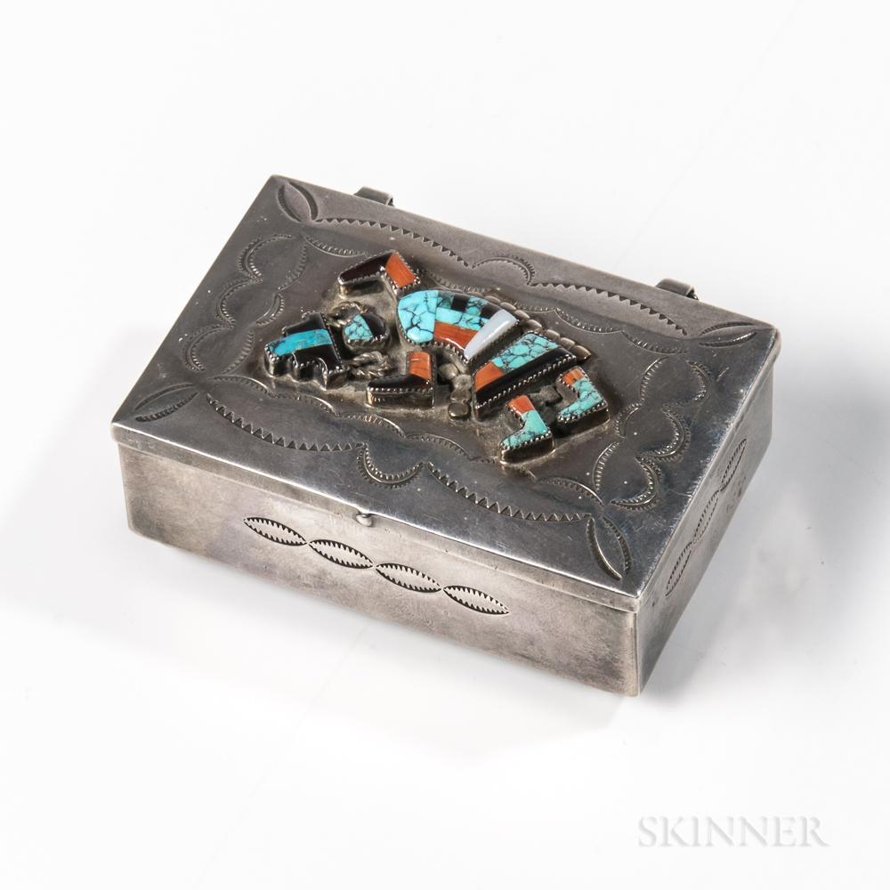 Small Zuni Silver Box