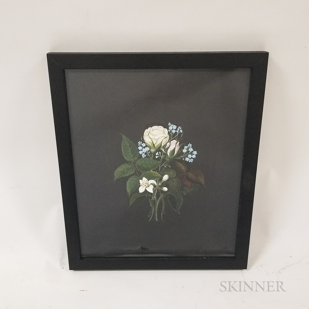 Framed P.A. Sherman Oil Painting of a Bouquet of Flowers