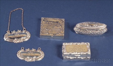 Five Small Silver Articles