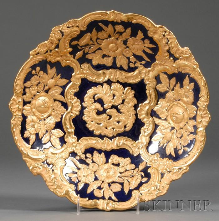 Meissen Porcelain New Gold Serving Bowl