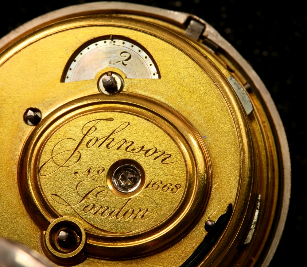 Johnson Silver Pair-cased Quarter Repeating Watch