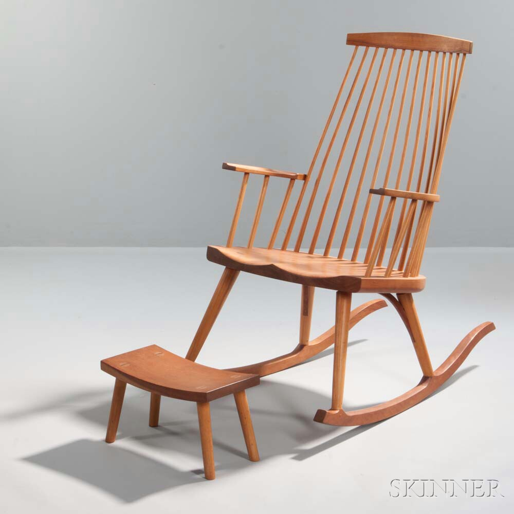 Thomas Moser New Gloucester Rocker and a Footstool