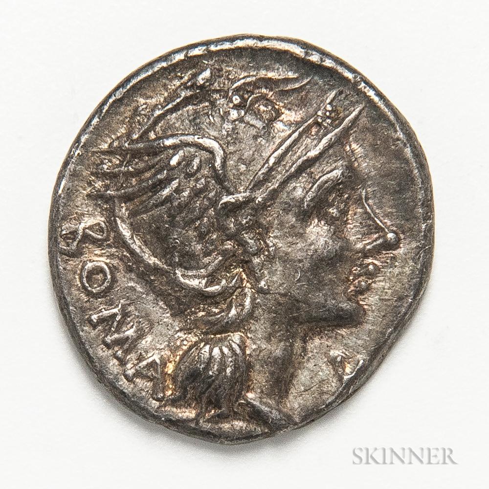 Roman Republic, L. Flaminius Chilo AR Denarius
