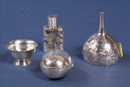 Four Small Silver Articles
