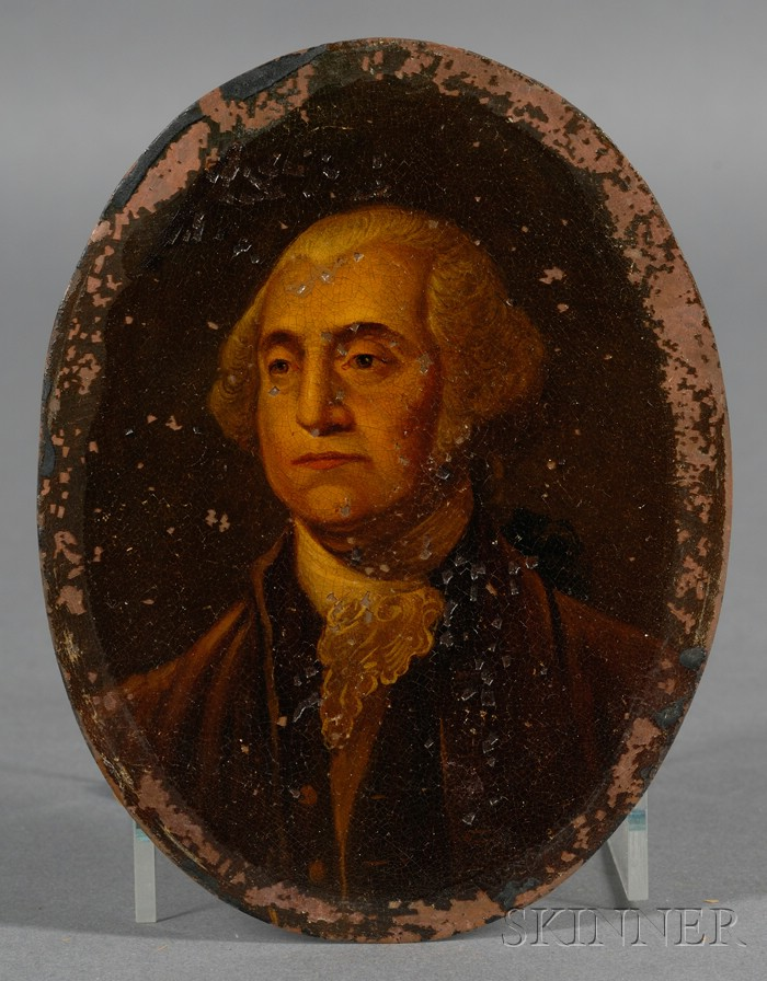 American School Portrait Miniature of George Washington