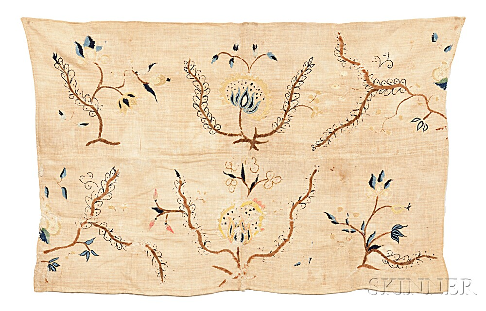 Embroidered Textile Fragment