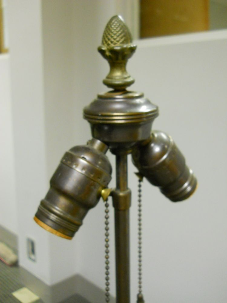 Large Cast Metal Hu   Lamp