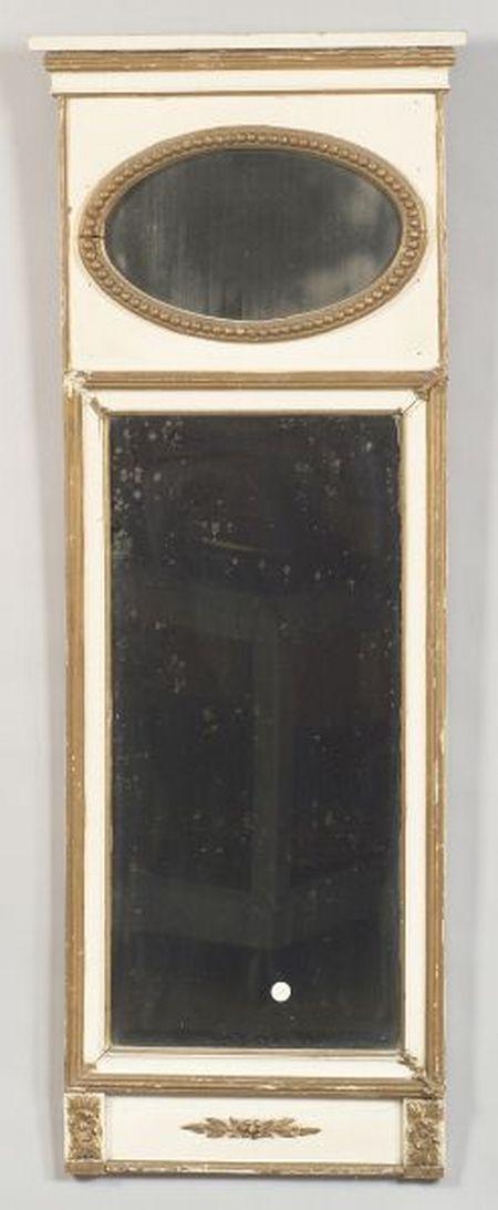 Pair of Continental Painted and Parcel-gilt Pier Mirrors